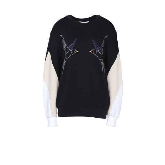 STELLA McCARTNEY, Sweatshirt à manches longues, Sweat-shirt à imprimé hirondelles