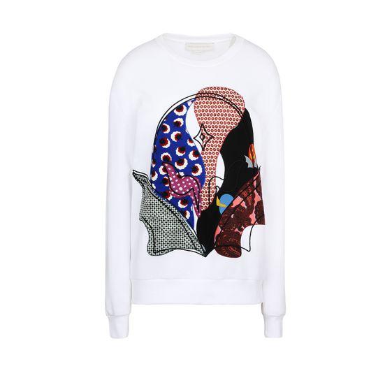 STELLA McCARTNEY, Sweatshirt à manches longues, Sweat-shirt avec application super-héros Stella