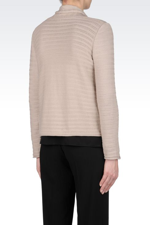 CARDIGAN IN COTTON BLEND: Cardigans Women by Armani - 3