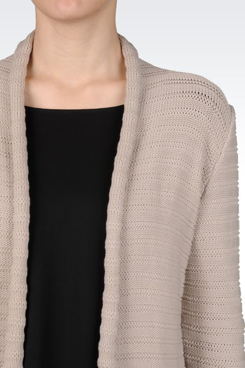 CARDIGAN IN COTTON BLEND: Cardigans Women by Armani - 4