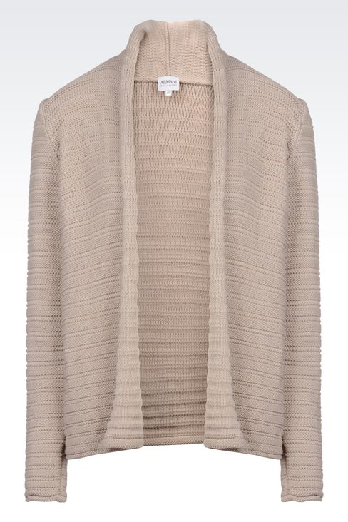 CARDIGAN IN COTTON BLEND: Cardigans Women by Armani - 1