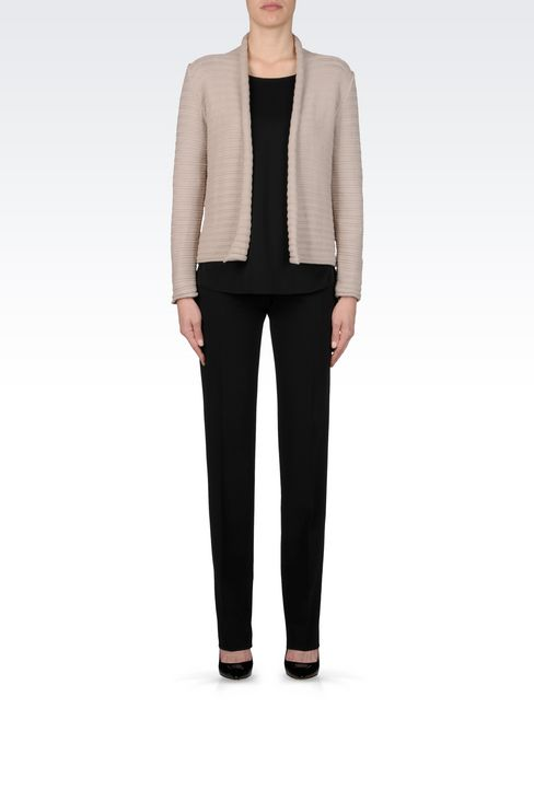 CARDIGAN IN COTTON BLEND: Cardigans Women by Armani - 2
