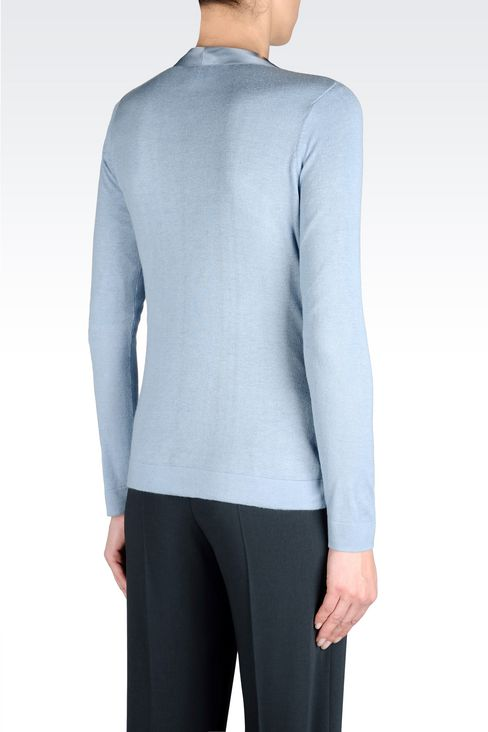 CARDIGAN IN SILK AND CASHMERE: Cardigans Women by Armani - 3