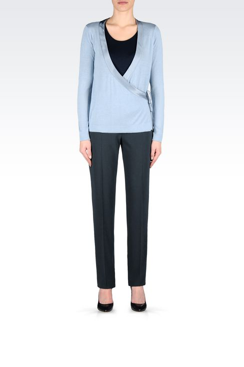 CARDIGAN IN SILK AND CASHMERE: Cardigans Women by Armani - 2