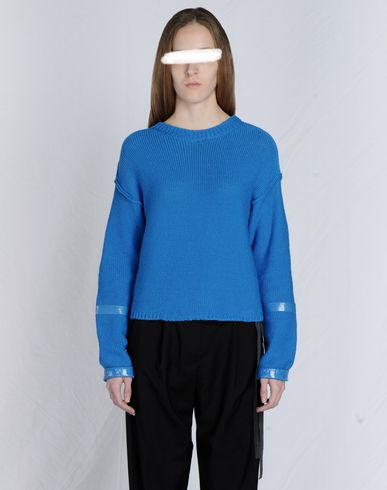 MM6 by MAISON MARGIELA Cotton crewneck sweater with tape detail