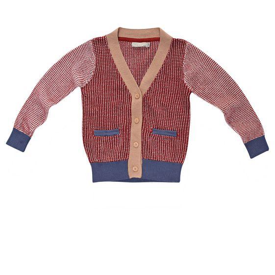 STELLA McCARTNEY KIDS, Jumpers & Cardigans, Red Agnes Cardigan