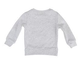 STELLA McCARTNEY KIDS, Jumpers & Cardigans, Soft organic cotton fleece sweatshirt in grey melange featuring a lion print. <br>Crew neck and long sleeves.