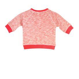 STELLA McCARTNEY KIDS, Jumpers & Cardigans, Super soft organic cotton fleece sweatshirt in orange sorbet tone with a seashell print design and ribbed trims.