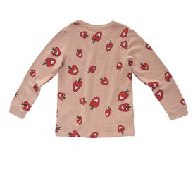 STELLA McCARTNEY KIDS, Jumpers & Cardigans, Super soft cotton fleece sweatshirt featuring an apple print. <br> With contrasting ribbed trims, a curved hem and a crew neckline.
