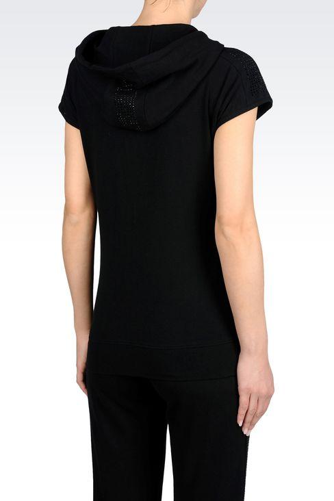 7 LINES FULL ZIP HOODED SWEATSHIRT: Hooded sweatshirts Women by Armani - 3