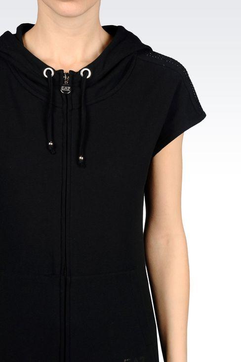 7 LINES FULL ZIP HOODED SWEATSHIRT: Hooded sweatshirts Women by Armani - 4