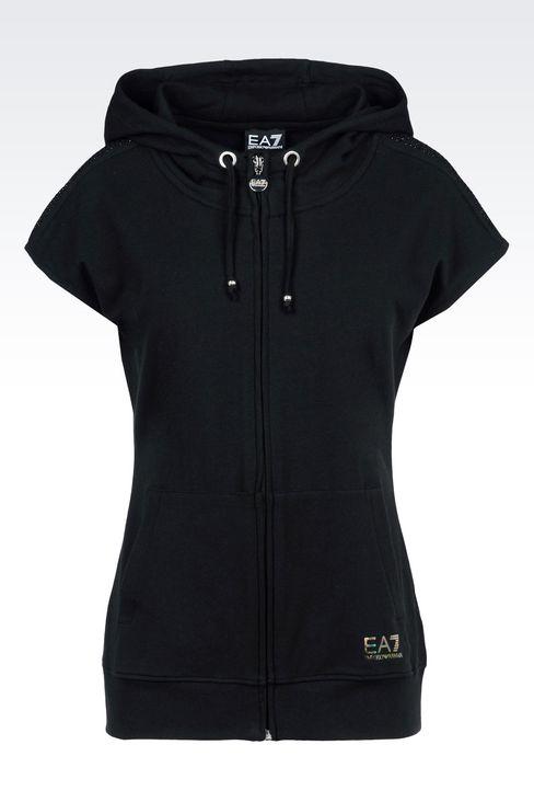 7 LINES FULL ZIP HOODED SWEATSHIRT: Hooded sweatshirts Women by Armani - 1