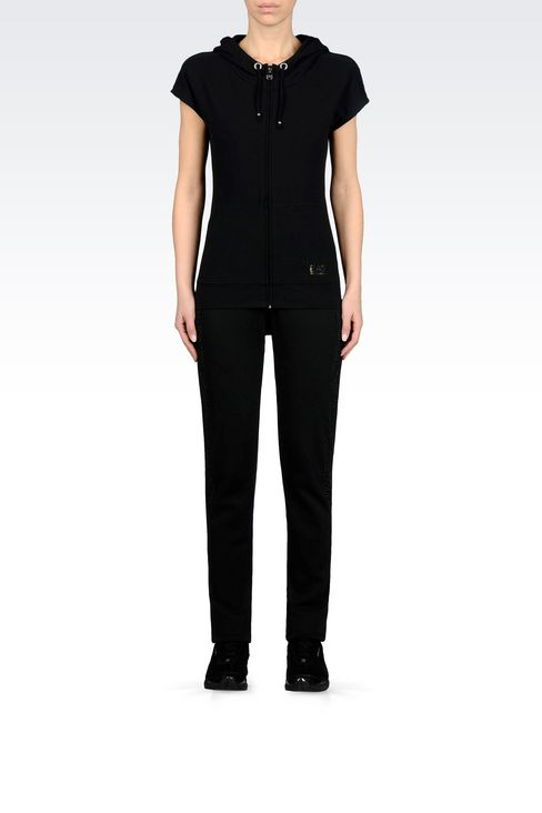 7 LINES FULL ZIP HOODED SWEATSHIRT: Hooded sweatshirts Women by Armani - 2