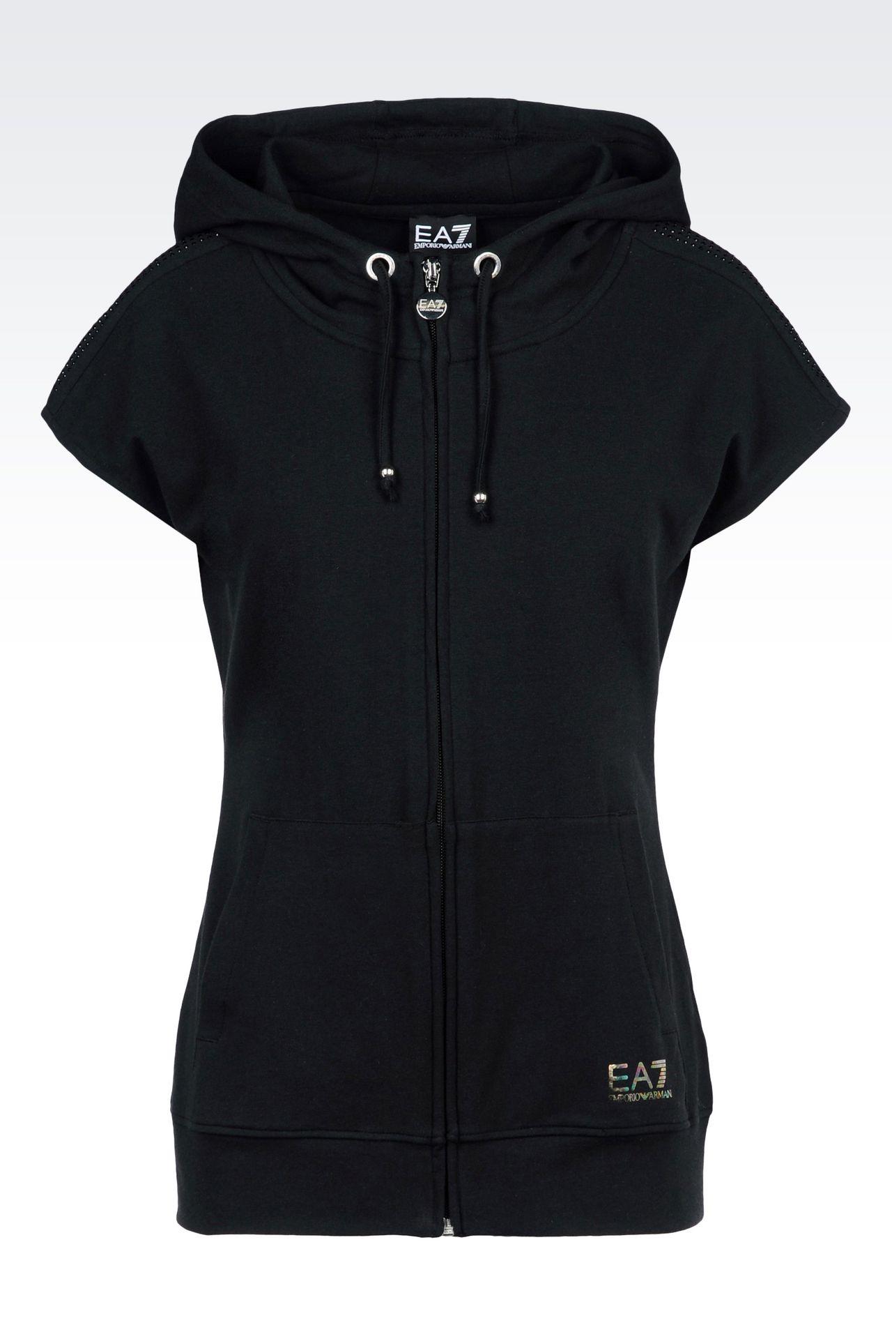 7 LINES FULL ZIP HOODED SWEATSHIRT: Hooded sweatshirts Women by Armani - 0
