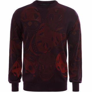ALEXANDER MCQUEEN, Sweatshirt, All Over Camouflage Skull Sweater