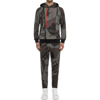 ALEXANDER MCQUEEN, Casual Pants, Skull Print Sweatshirt Pants