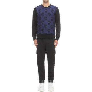 ALEXANDER MCQUEEN, Sweatshirt, Jacquard Front Sweatshirt