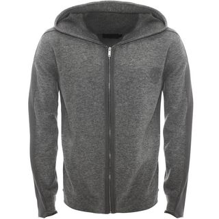 ALEXANDER MCQUEEN, Cardigan, Double Layer Knit Hooded Cardigan
