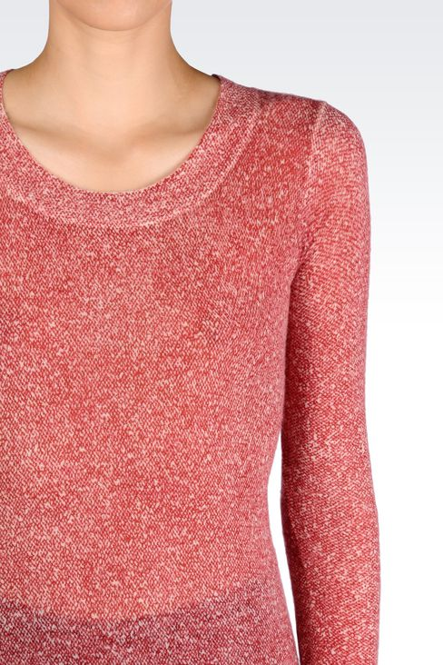CASHMERE JUMPER: Crewnecks Women by Armani - 4