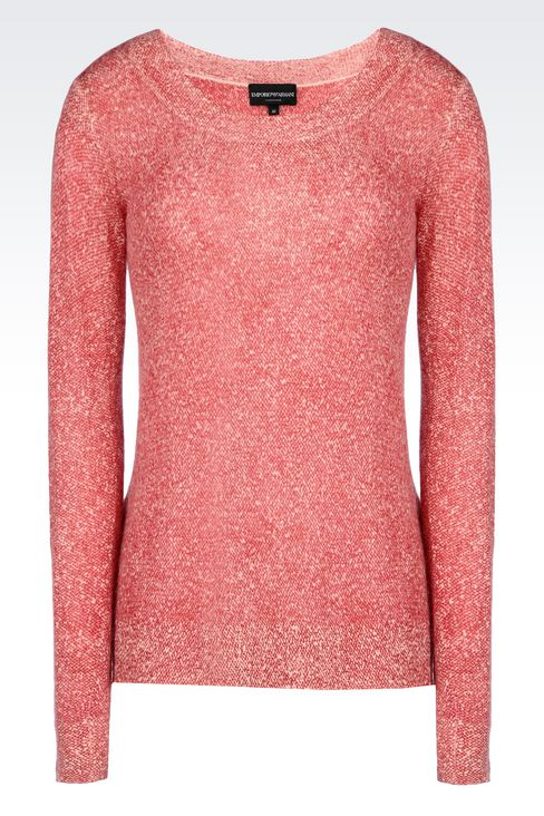 CASHMERE JUMPER: Crewnecks Women by Armani - 1