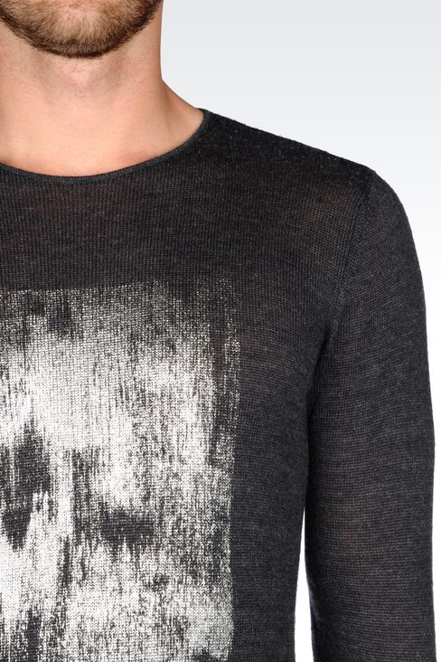 SWEATER IN VIRGIN WOOL: Crewneck sweaters Men by Armani - 4