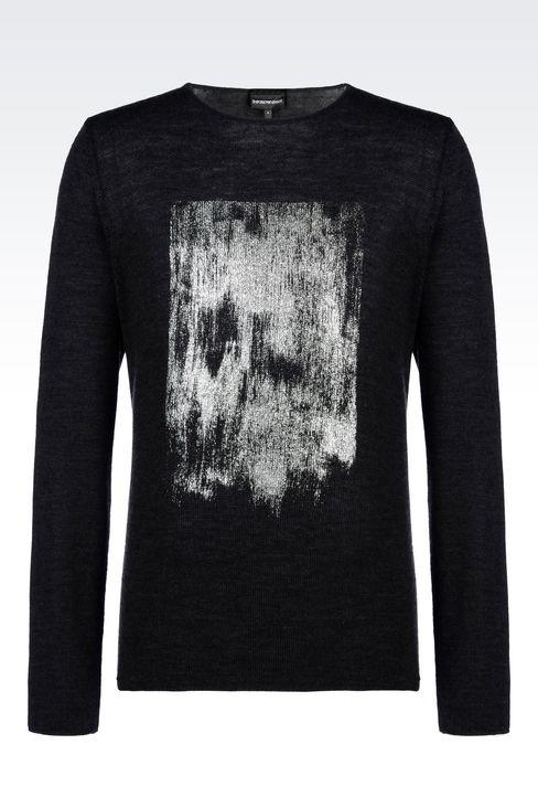 SWEATER IN VIRGIN WOOL: Crewneck sweaters Men by Armani - 1