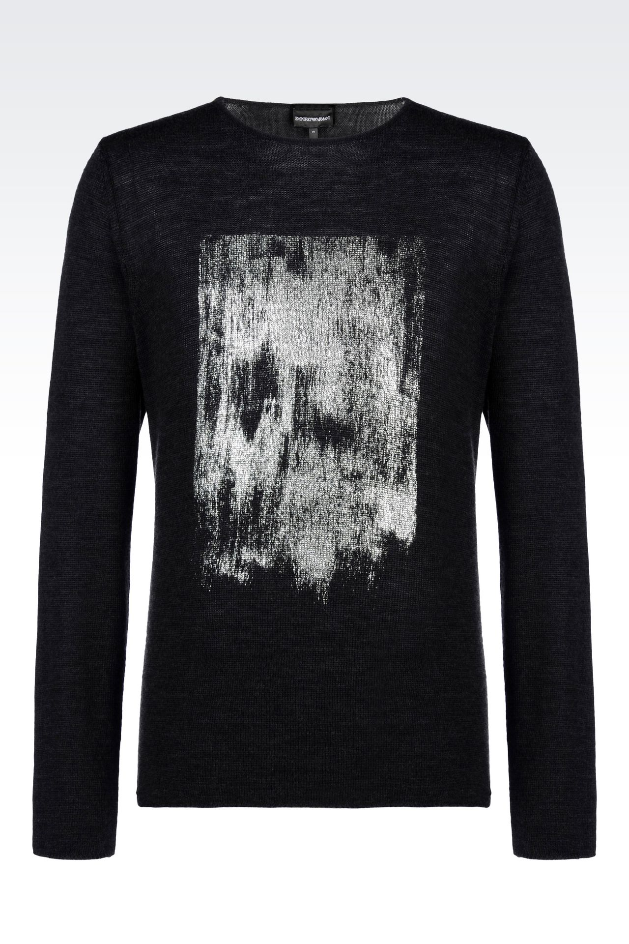 SWEATER IN VIRGIN WOOL: Crewneck sweaters Men by Armani - 0