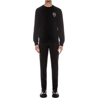 ALEXANDER MCQUEEN, Sweatshirt, AMQ Crystal Embroidered Sweatshirt
