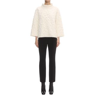 ALEXANDER MCQUEEN, Knitwear, Quilted Rose Knit Oversized Jumper