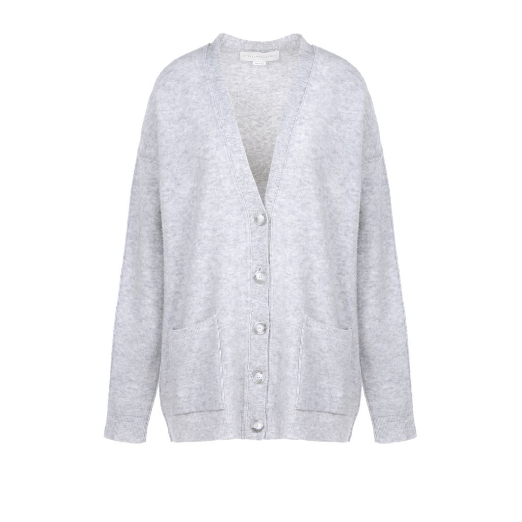 Soft Felt v-neck cardigan