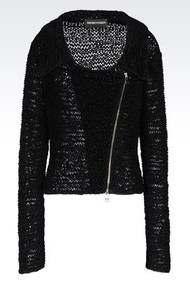 Armani Knit jackets Women knit blouson