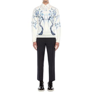 ALEXANDER MCQUEEN, Jumper, Long Sleeve Porcelain Tree Jumper