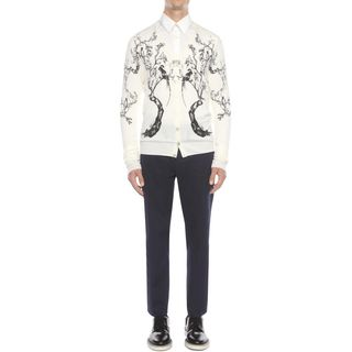 ALEXANDER MCQUEEN, Cardigan, Long Sleeve Porcelain Tree Cardigan
