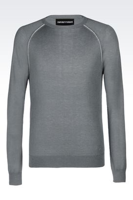 Armani Crewneck sweaters Men sweater with contrasting stitching