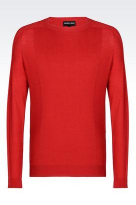 Armani Crewneck sweaters Men sweater in cotton and silk