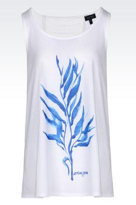 Armani Sleeveless tops Women jersey t-shirt