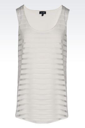 Armani Top senza maniche Donna top in jersey