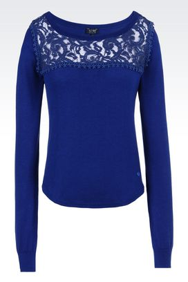 Armani Crewneck sweaters Women sweater in modal cotton