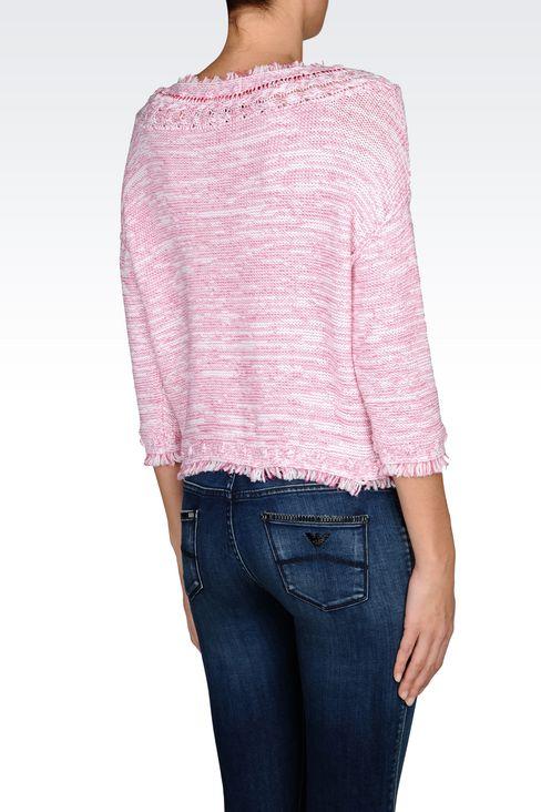 COTTON SWEATER: Crewneck sweaters Women by Armani - 3