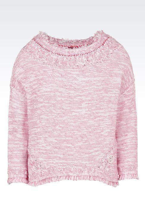 COTTON SWEATER: Crewneck sweaters Women by Armani - 1