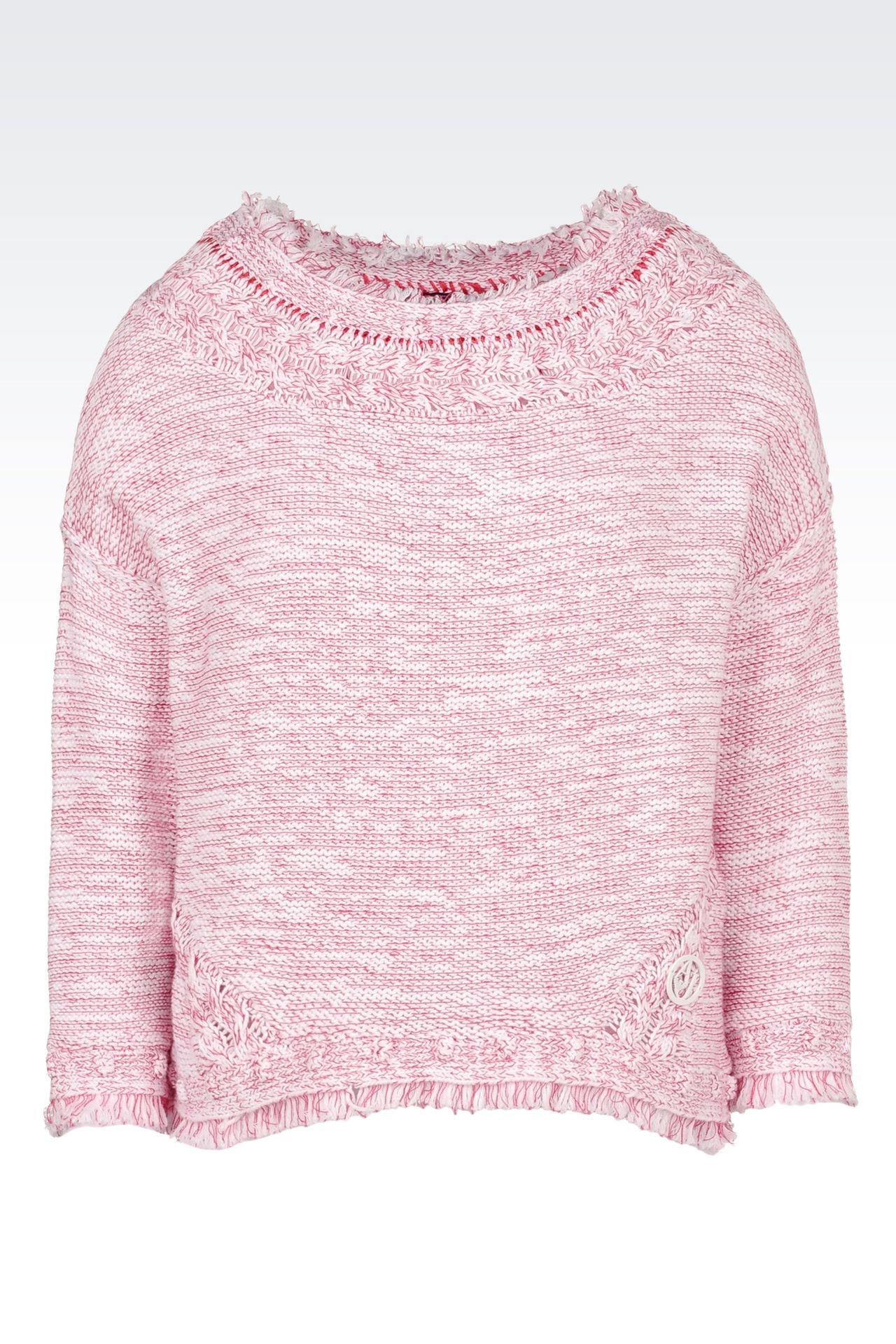 COTTON SWEATER: Crewneck sweaters Women by Armani - 0