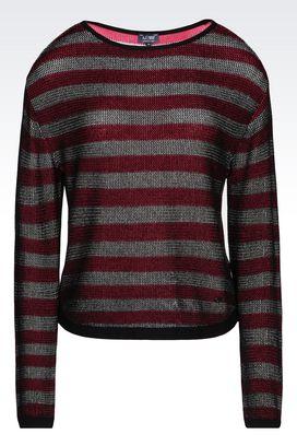 Armani Pullover mit Rundkragen Für sie pullover aus baumwollmischung