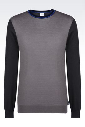 Armani Crewneck sweaters Men sweater in cotton blend