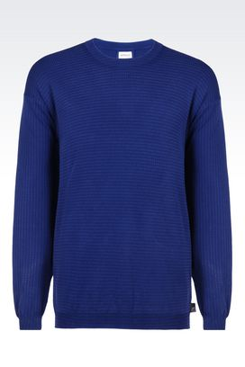 Armani Crewneck sweaters Men sweater in viscose blend