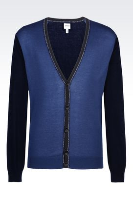 Armani Cardigans Men cardigan in cotton blend