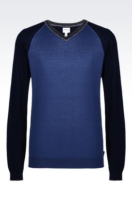 Armani V  neck sweaters Men sweater in cotton blend