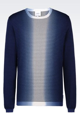 Armani Crewneck sweaters Men sweater in cotton and silk