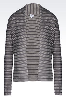 Armani Cardigans Women cardigan in viscose and cotton