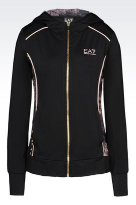 Armani Hooded sweatshirts Women ventus7 line hooded sweatshirt in technical fabric