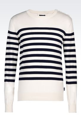 Armani Crewneck sweaters Men two tone striped sweater
